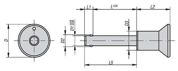 autofijaci/ón Kipp bola pernos de bloqueo 1/pieza longitud 40/mm di/ámetro 8/mm forma A termopl/ástico k0363.3808040